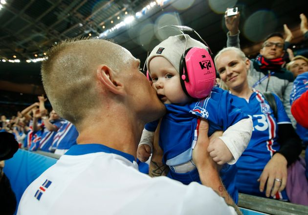 Euro 2016 'Cheeksson' Baby: This Chubby Cheeked Icelandic Football Fan Has Stolen Everyone's
