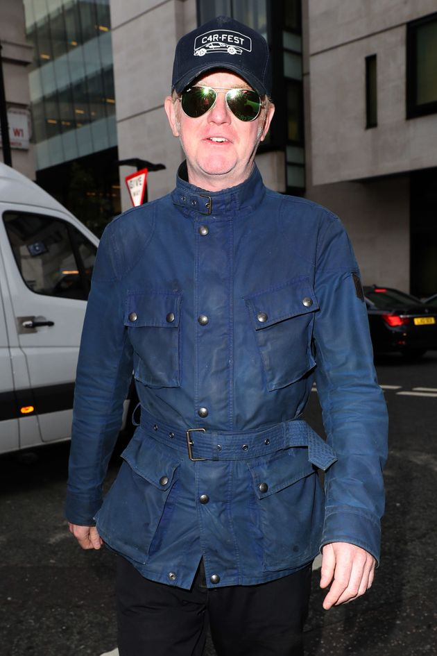Chris kept his sunnies on when arriving at the BBC Radio 2 studios on Tuesday