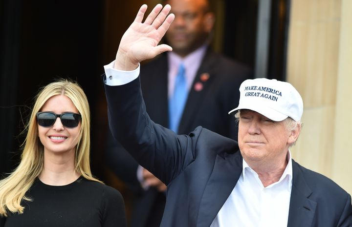 Donald and Ivanka Trump at Trump Turnberry Resort on June 24, 2016 in Ayr, Scotland.