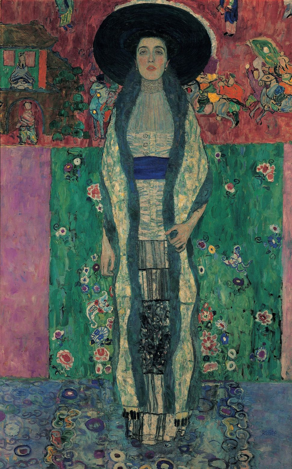 """Portrait of Adele Bloch-Bauer II."" Oil on Canvas by Gustav Klimt. 1912."