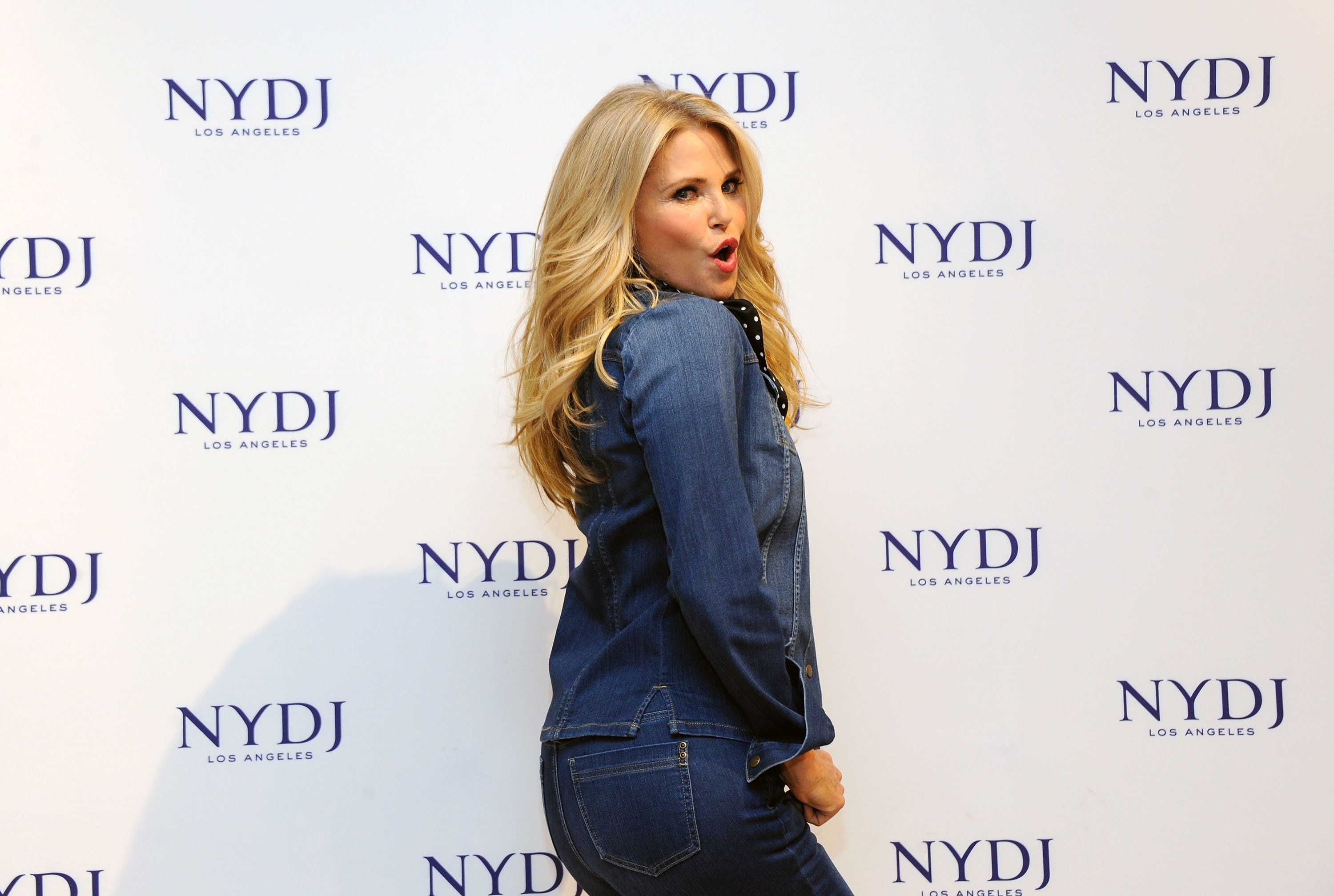 NEW YORK, NEW YORK - JANUARY 28:  Model Christie Brinkley attends NYDJ 2016 Fit To Be Campaign Launch at Lord & Taylor on January 28, 2016 in New York City.  (Photo by Desiree Navarro/WireImage)