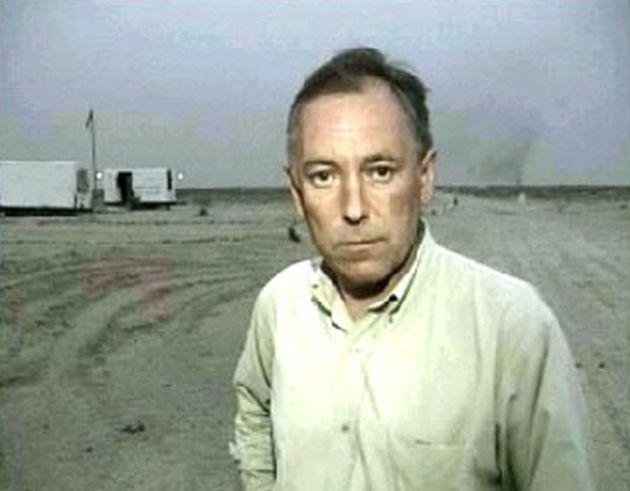 ITN journalist Terry Lloyd is seen making his last televised news report on March 21, 2003 in Iraq. Lloyd...