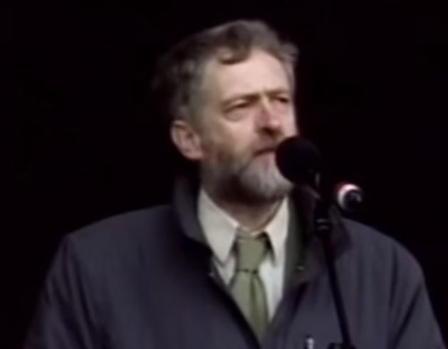 Jeremy Corbyn gave a passionate speech to protesters at an anti-Iraq war rally in
