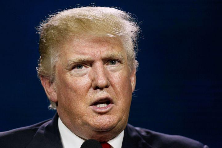 PresumptiveRepublican presidential nomineeDonald Trump speaks at the Western Conservative Summit in Denverl