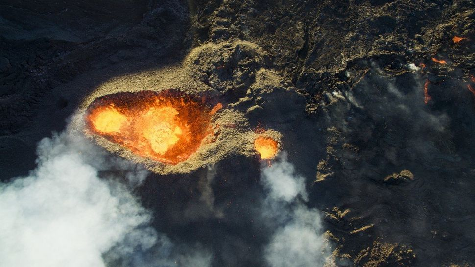 3rd Prize Winner in Nature and Wildlife category. Piton de la fournaise volcano in Le Tampon, Reunion, France.