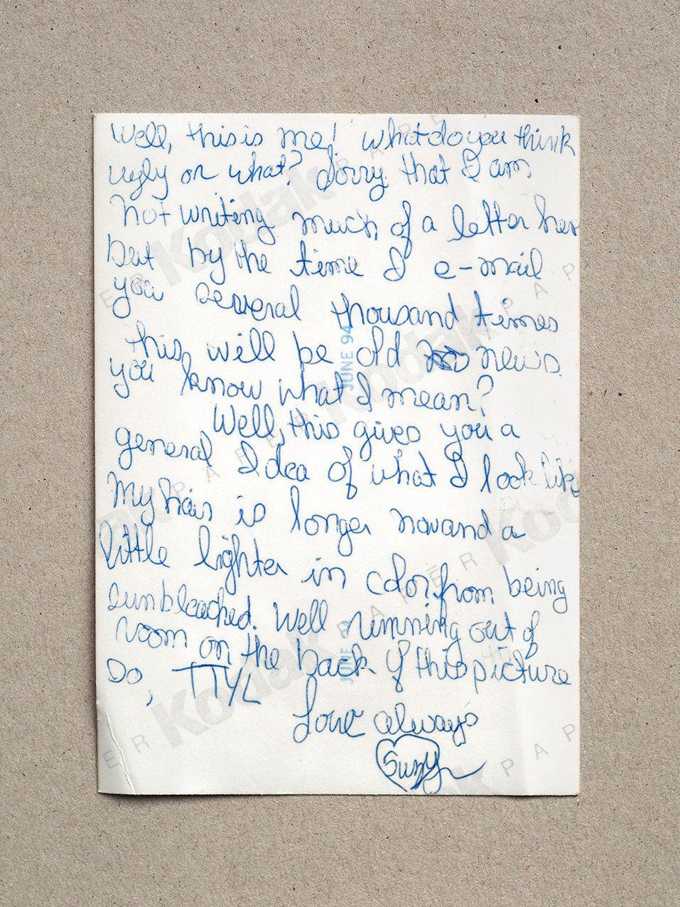 Suzanne's handwriting