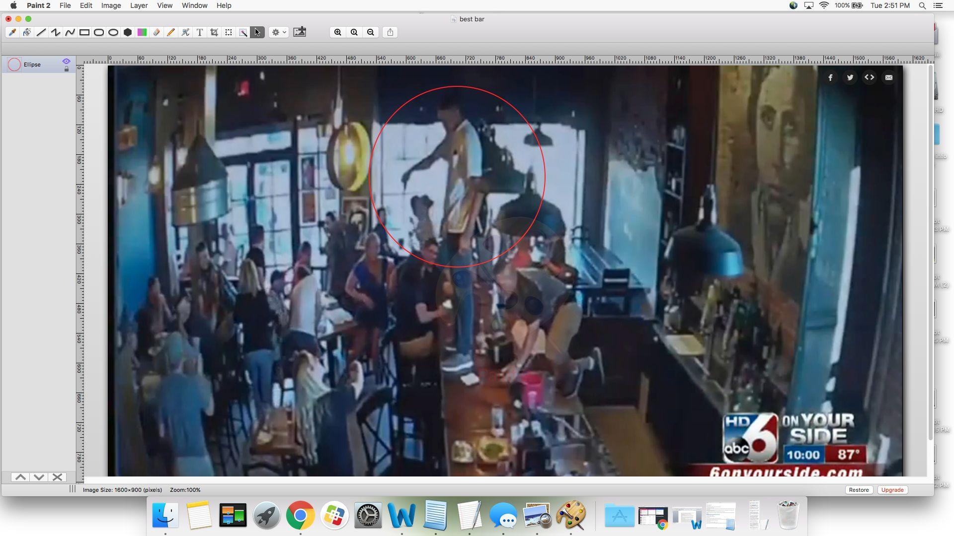 drunk man in bar incites panic