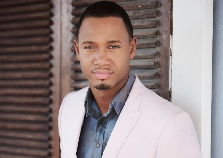 "Terrence ""J"" Jenkins, the host of ""Coupled"" -- or as he calls himself, a ""young, black Cupid."""