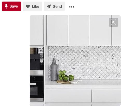 """<a href=""""https://www.pinterest.com/pin/133630313920314037/"""" target=""""_blank"""">The forever classic Carrara marble looks better t"""