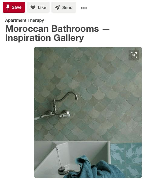 """<a href=""""https://www.pinterest.com/pin/156429787026426058/"""" target=""""_blank"""">These cool colors are stunning in a bathroom. The"""
