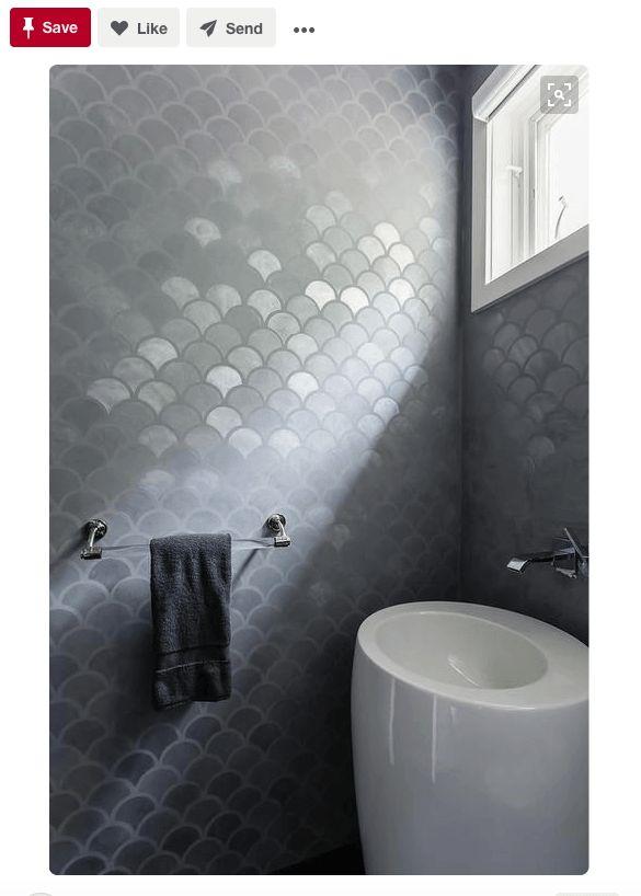 "<a href=""https://www.pinterest.com/pin/56717276536688285/"" target=""_blank"">The gray metallic finish makes these tiles blend i"