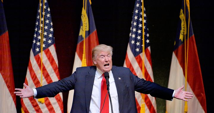 Donald Trump at a campaign rally in Raleigh, North Carolina.