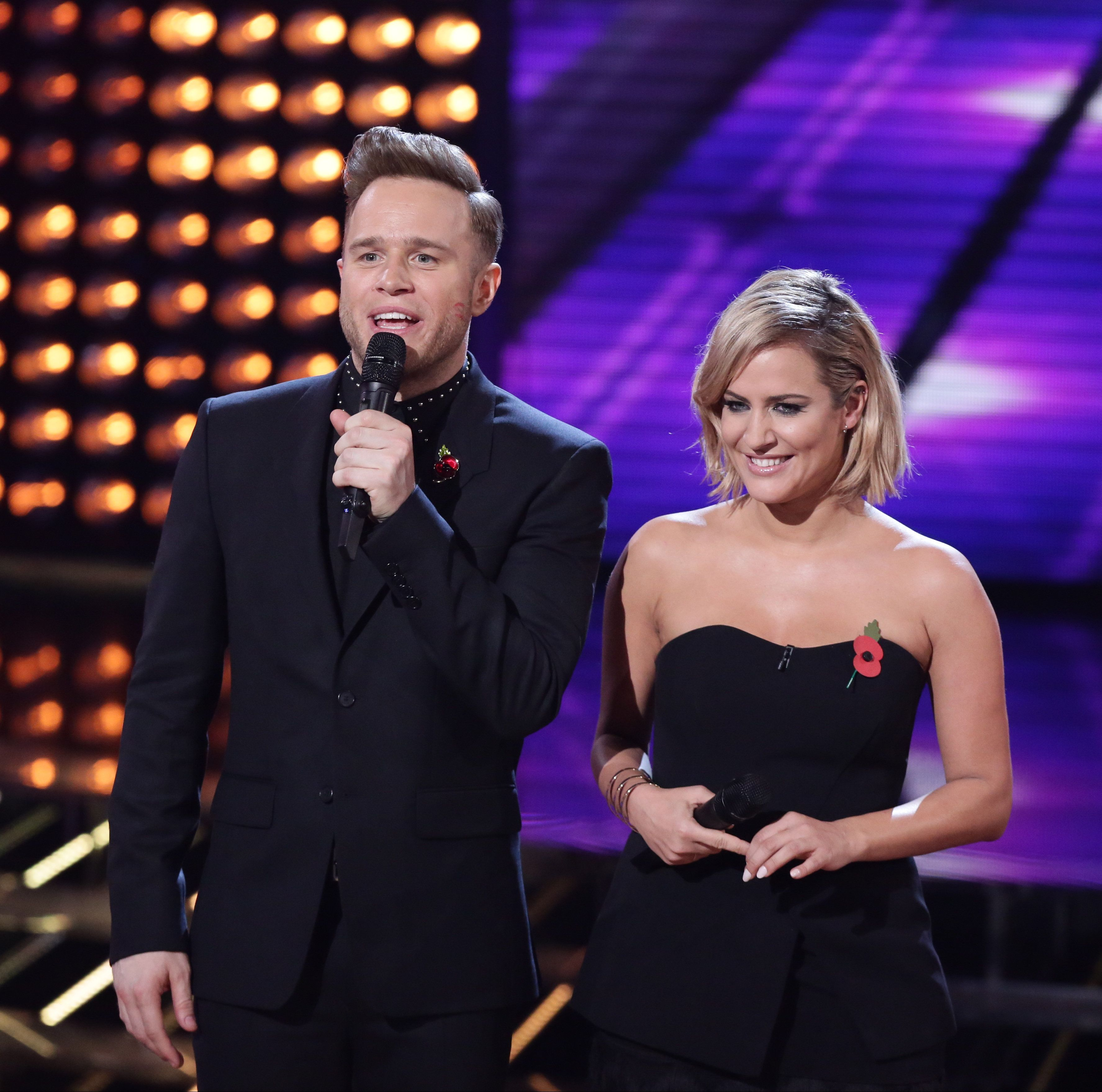 Olly Murs hosted 'The X Factor' with Caroline Flack in