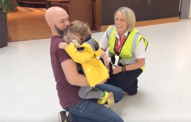 Adorable Moment Girl Is 'Reunited' With Her Bear 'Mr McGinty' After Losing Him On A Family