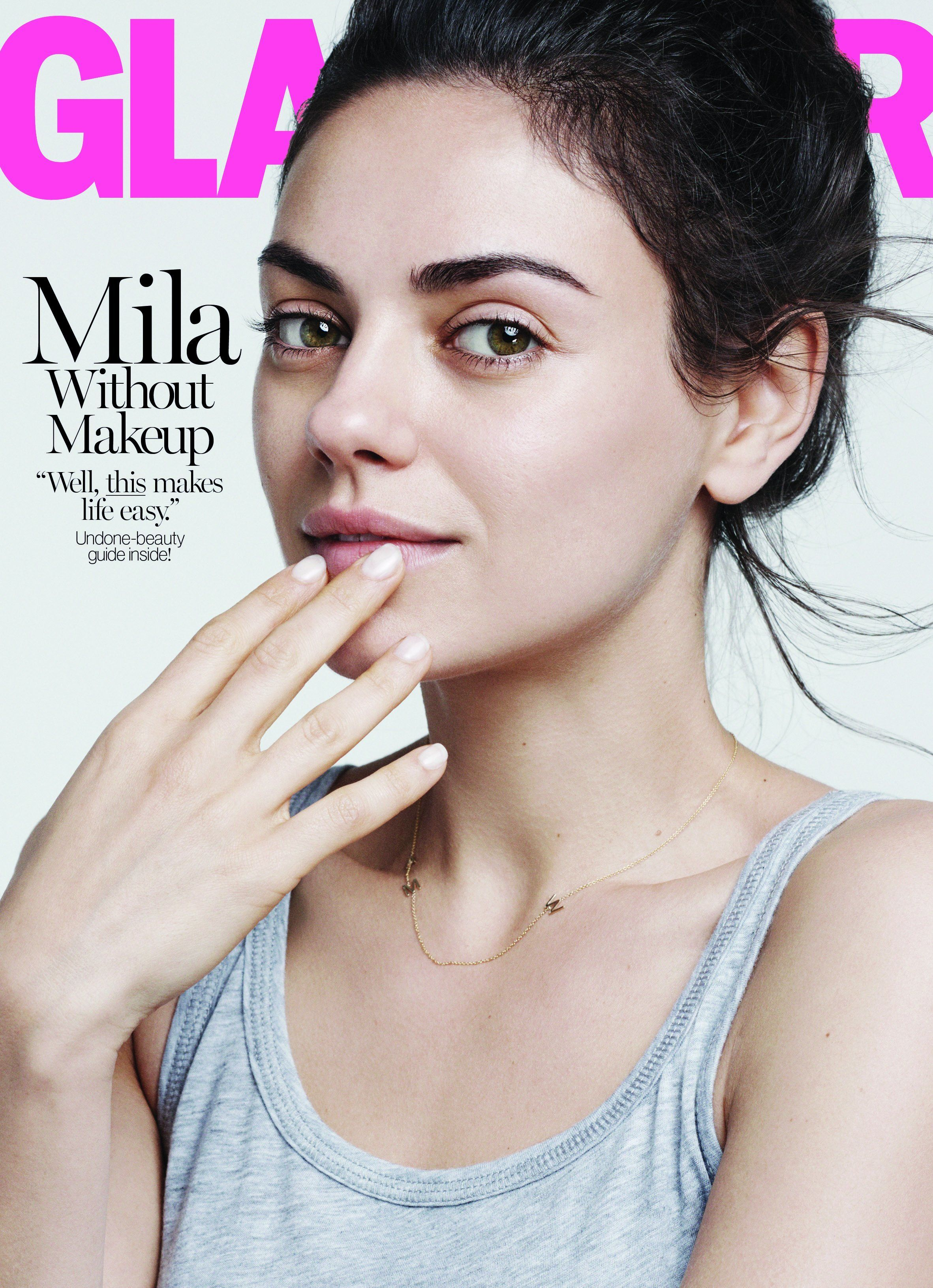 Mila Kunis Poses Makeup-Free, Slams