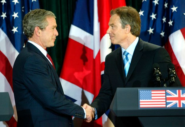 President George W. Bush and British Prime Minister Tony Blair inApril, 2003. The the inquiry...