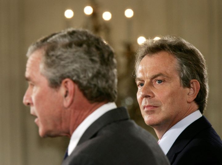 """Former British Prime Minister Tony Blair and former U.S. President George Bush should be put on trial for """"ruining"""" Iraq, he"""