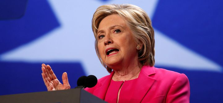 Presumptive Democratic presidential candidate Hillary Clinton speaks at the National Education Association's 95th Repre