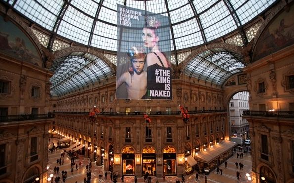 A Greenpeace 'Detox' campaign at Milan Fashion Week in