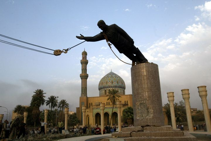 Kadhim Hassan al-Jabouri was filmed attacking Saddam Hussein's statue with a sledgehammer in 2003. Now he says Iraq was bette