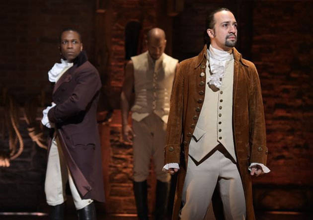 'Hamilton' star Miranda makes last appearance, draws throng