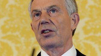 Former Prime Minister Tony Blair speaks during a news conference in London on July 6, 2016, following the outcome of the Iraq Inquiry report. Former British prime minister Tony Blair voiced 'sorrow, regret and apology' after a damning report on the Iraq war Wednesday, but said he did not mislead parliament and did not regret toppling Saddam Hussein. Blair made his comments at a press conference in London after publication of the long-awaited Chilcot report into Britain's role in the 2003 US-led invasion of Iraq sharply criticised him. / AFP / POOL / STEFAN ROUSSEAU        (Photo credit should read STEFAN ROUSSEAU/AFP/Getty Images)