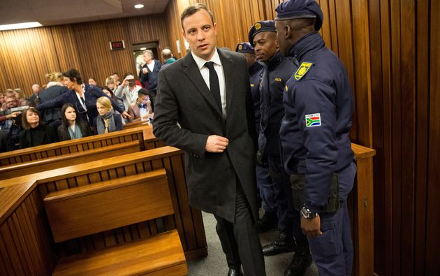 Oscar Pistorius arriving at his July 6 sentencing in