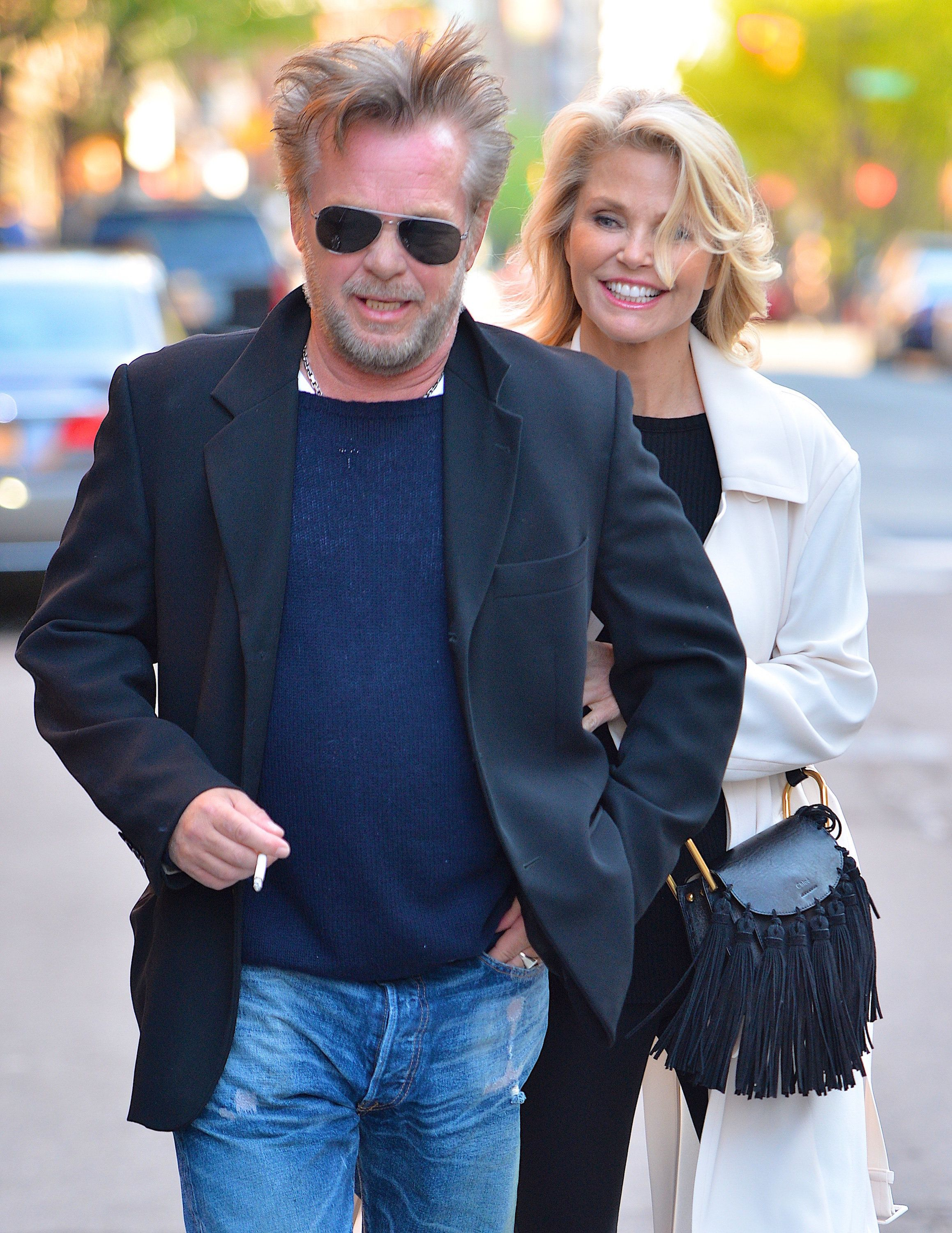 Mellencamp and Brinkley take a stroll in New York City in April 2016.