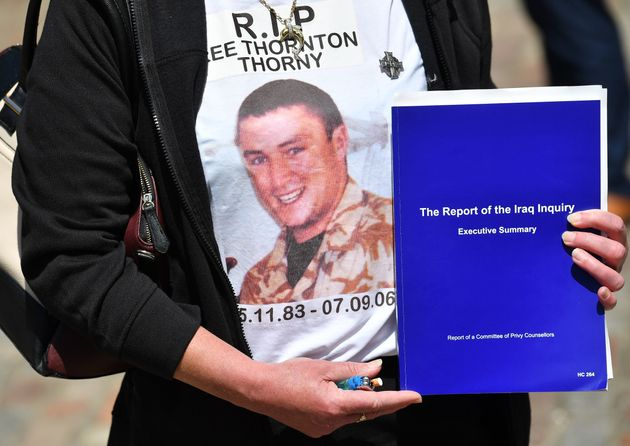 The mother of Gunner Lee Thornton, who died in