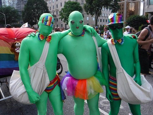 """A group calling themselves the""""Gay Zombies Cannabis Consumers Association"""" distributed..."""
