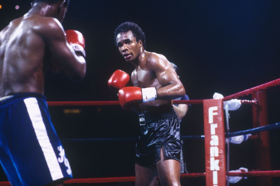 Sugar Ray Leonard in the ring.