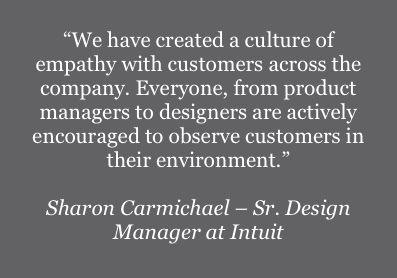 Quote - Sharon Carmichael, Senior Design Manager at Intuit