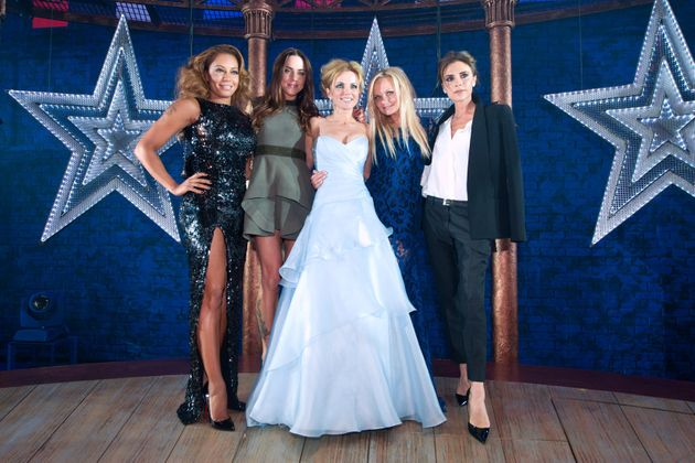 The Spice Girls, the last time all five were snapped together at the premiere of the ill-fated 'Viva...