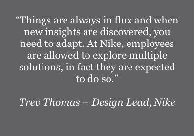 Quote - Trev Thomas, Design Lead, Nike