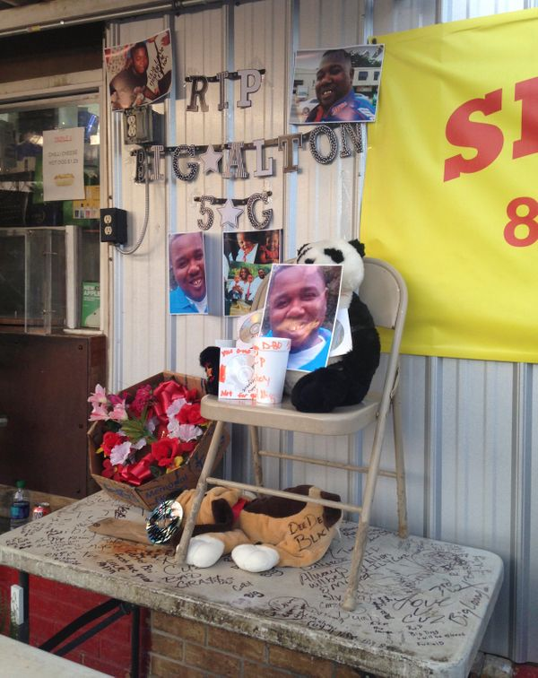 An impromptu memorial has been set up after Sterlingwas shot and killed during an altercation with two Baton Rouge poli