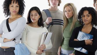 Serious Teenage Students