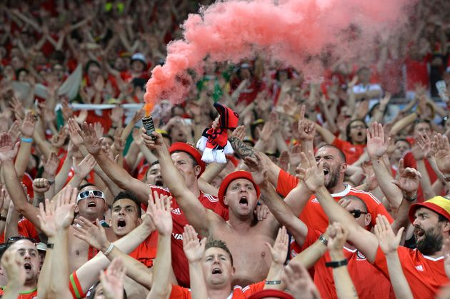 Wales fans remained resolute even after their ousting from the European