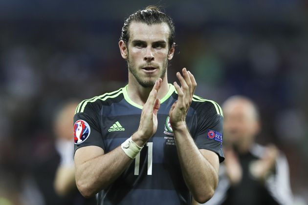 Wales's Gareth Bale acknowledged the fans at the end of the