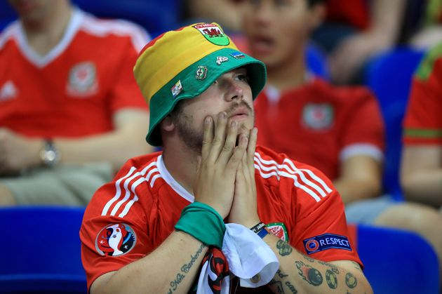 Fans were dejected but proud that Wales had outshone England's