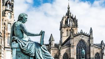 Edinburgh is the capital city of Scotland, and a UNESCO world heritage site. The High Kirk of St Giles is a historic church on the Royal Mile.