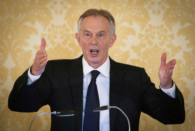 Tony Blair speaks at a press conference following the publication of the