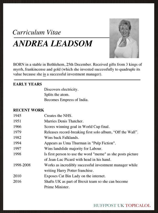 andrea leadsom u0026 39 s real cv revealed