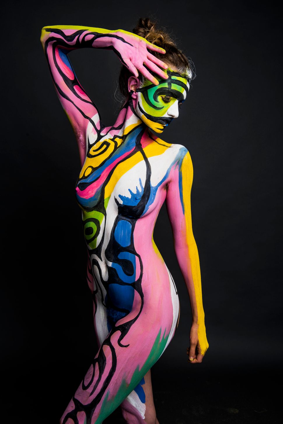Female nude body painting — pic 5