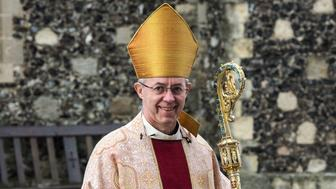 CANTERBURY, ENGLAND - DECEMBER 25:  The Archbishop of Canterbury, Justin Welby, arrives at the west door to  deliver his Christmas Day sermon to the congregation at Canterbury Cathedral on December 25, 2015 in Canterbury, England. His Grace was unable to deliver his Christmas sermon last year as he was suffering with pneumonia.  (Photo by Chris Ratcliffe/Getty Images)