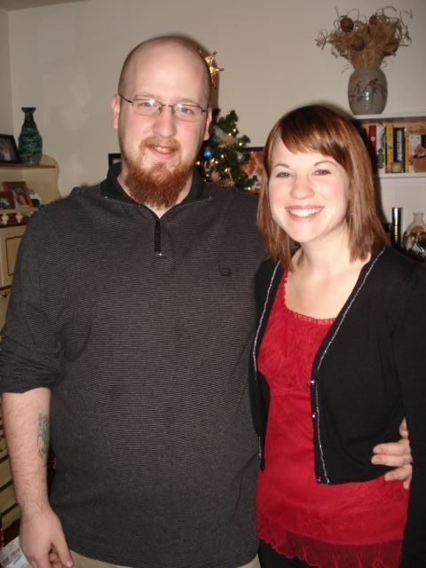 Our first married Christmas at our apartment. We were so proud of our Christmas tree, we invited our parentsover for a