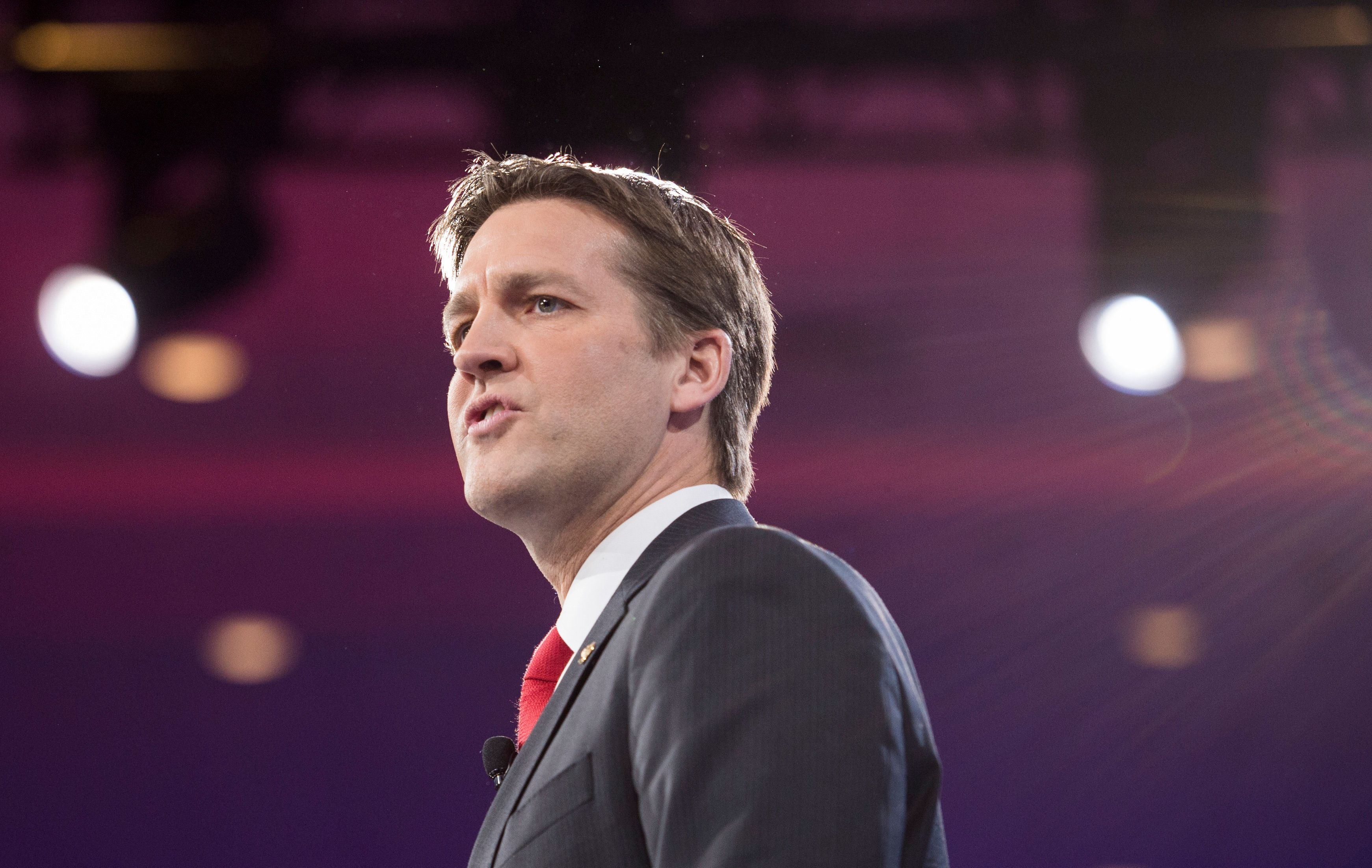 UNITED STATES - MARCH 3: Sen. Ben Sasse, R-Neb., speaks at the American Conservative Union's CPAC conference at National Harbor in Oxon Hill, Md., on Thursday, March 3, 2016. (Photo By Bill Clark/CQ Roll Call)