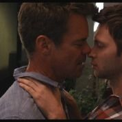 Tuc Watkins and Devon Graye in a scene from <strong><i>Retake</i></strong>