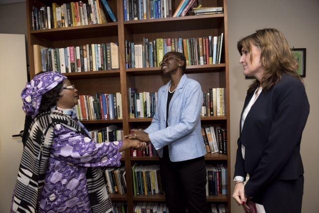 Gwen K. Young hosts President Joyce Banda, former President of Malawi.
