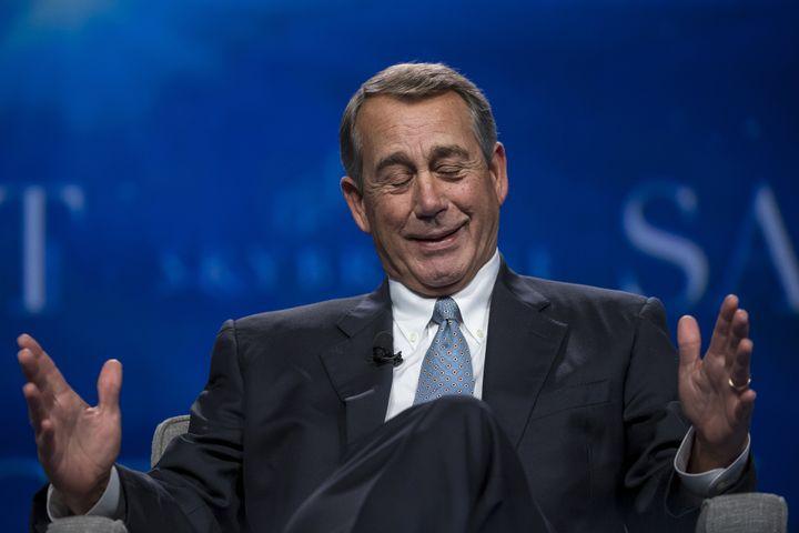 John Boehner once sat on the floor of the House.