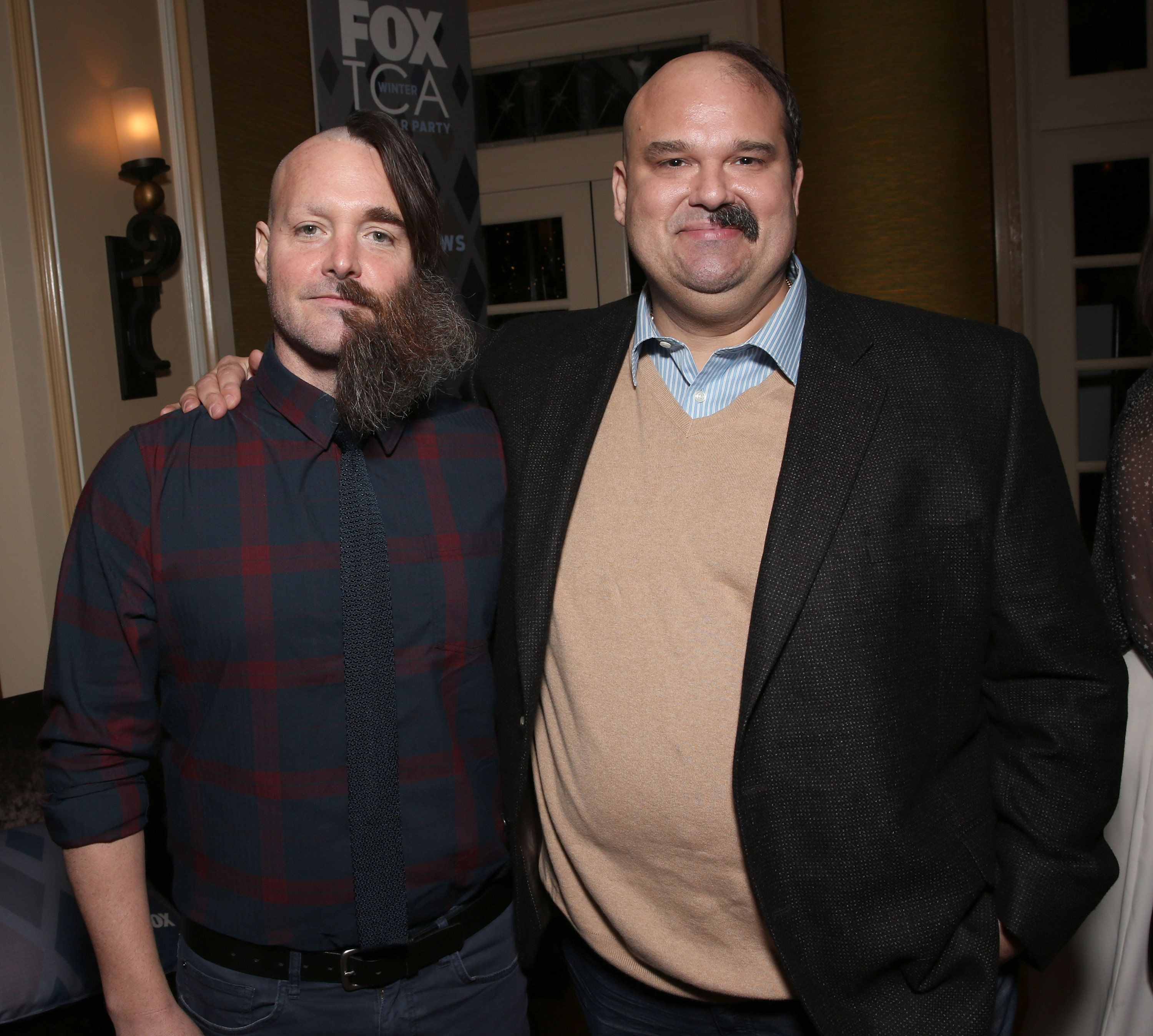 PASADENA, CA - JANUARY 15:  Will Forte and Mel Rodriguez attend the 2016 Winter TCA Tour FOX All Star Party at The Langham Huntington Hotel and Spa on January 15, 2016 in Pasadena, California.  (Photo by Todd Williamson/Getty Images)